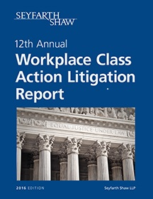 Seyfarth Shaw LLP has released its annual report EEOC-Initiated Litigation: Case Law Developments In 2015 And Trends to Watch for In 2016 that offers the most definitive source of analysis focusing exclusively on EEOC-related litigation.