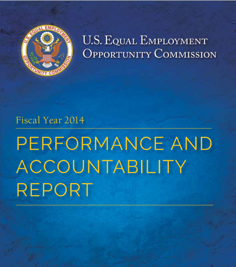 EEOC Releases 2014 Performance and Accountability Report